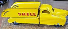 VINTAGE BUDDY L SHELL OIL TRUCK PRESSED STEEL RARE made in USA c1950s