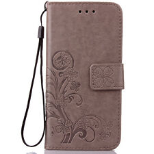 Retro Clover Leather Wallet Cover Case For Apple iPhone 5 6 Plus Samsung Series