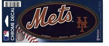 NEW YORK METS 3X7 CHROME WINCRAFT DECAL STICKER FREE SHIPPING!!!!!!