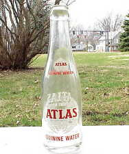 VERY Vintage Atlas Quinine Water Bottle Detroit MI