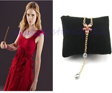 Harry Potter Hermione Celebrity Gold Plated Red Crystal Charming Necklace Gift
