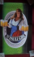 Vintage Sexy Girl Beer Poster St. Pauli ~ Country Blonde 1993