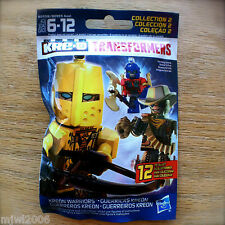KRE-O TRANSFORMERS Kreon Warriors Series COLLECTION 2 Sealed MiniFigure BLINDBAG