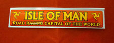 Mann3 Isle of Man TT Road Racing Capital Of The World Sticker - Domed