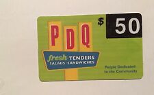 PDQ Fresh Tenders Salads Sandwiches Restaurant Gift Card Value $50.00