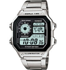 Casio AE1200WHD-1AV, Classic Digital Watch, Chronograph, Alarm, World Time