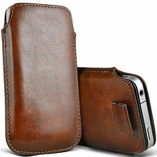 Brown PU leather Pouch Case Cover For Iphone 4 4s