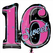 Party Sweet 16th Sixteen Birthday - Age 16 Jumbo Foil Balloon Decoration 3056001