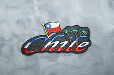 Patch Country Flag Sew On Iron On Jacket Shirt or Pants Chile Color