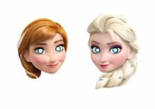 6 MASCARAS DE CARTON  FROZEN ELSA ANNA  IDEAL CUMPLEAÑOS DISNEY CARETAS