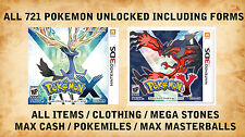 Pokemon X / Y Complete ALL 721 pokemon Including Hoopa Volcanion AZ Floette