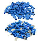 100Pcs Copper Insulated Spade Electrical Crimp Terminals Wire Connector Set