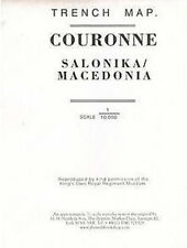 TRENCH MAP OF COURONNE SALONIKA/MACEDONIA