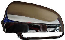 Calotta Specchio Specchietto Retrovisore sx Cromata Audi A4 Dal 2000 >2007