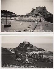 2 Gorey Harbour Mont Orgueil Castle Jersey unused RP old pcs