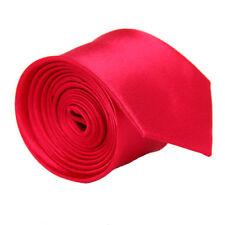 Skinny Slim Tie Solid Color Plain Silk Men'Jacquard Woven Party&Wedding Necktie