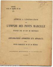 Livret annexe à l'instruction sur l'emploi des ponts marcille chemin de fer 1917