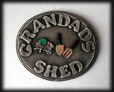 ** GRANDADS SHED Sign House Wall Plaque Sign LOW PRICE!