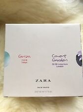 ZARA GINZA + ZARA COVENT GARDEN EAU DE TOILETTE 50ML+50ML SEALED