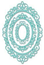 SWEET DIXIE INTRICATE OVAL FRAME METAL DIE CUT CUTTING EMBOSSING STENCIL SDD022
