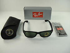 AUTHENTIC RAY-BAN NEW WAYFARER SUNGLASSES RB2132 622 BLACK RUBBER/G-15 LENS 52MM