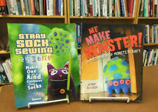 Two Book Set Me Make Monster! & Stray Sock Sewing One of a Kind Creatures