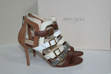 New sz 8 / 38 Jimmy Choo Bubble Leather & Suede Strappy Ankle Sandals Shoes