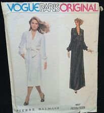 Vintage 70s Vogue Paris Original 1857 Balmain Dress & Gown Size 14