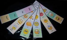 VISUAL COMMUNICATION STRIPS - HOW DO YOU FEEL EMOTIONS -SEN/AUTISM/ASD ON A RING
