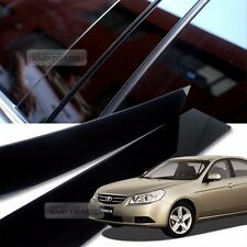 Glossy Black B Pillar Post UV Coating Cover 4Pcs For CHEVROLET 2006-2011 Epica