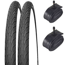 2 x New 700 x 38c Hybrid Bicycle/Cycle Tyres and 2 x Inner Tubes Schrader Valves