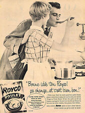 PUBLICITE ADVERTISING 025  1959  ROYCO   potage POULET AU VERMICELLE
