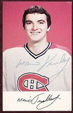 MARIO TREMBLAY 70'S AUTOGRAPHED MONTREAL CANADIENS TEAM ISSUE NHL HOCKEY PHOTO