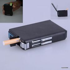 Cigarette Dispenser Case Lighter Combo WINDPROOF Butane Gas Jet Torch Box HoldeR
