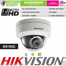 UK HIKVISION 2.8mm 4MP 2MP 1080P 30M IR Dome WDR Network IP CCTV Security Camera