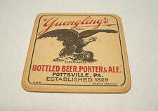"""PRE-PROHIBITION YUENGLING BEER 4"""" INCH COASTER  POTTSVILLE PA  PRE-PRO"""