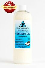 COCONUT OIL EXTRA VIRGIN ORGANIC by H&B Oils Center UNREFINED COLD PRESSED 16 OZ