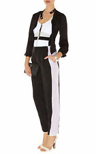 KAREN MILLEN SOFT colourblock trousers Black /Pastel UK 12 EU 40 US 6 RRP £115