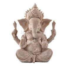 Vintage Hand Carved Sand Stone Hindu Tribal God Ganesh Elephant Statue Decor