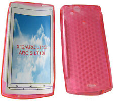 TPU Gel Case Cover For Sony Ericsson X12 Xperia Arc Anzu LT15i Arc S LT18i Pink