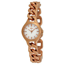 DKNY Chambers White Pearlized Dial Rose Gold-tone Ladies Watch NY2214