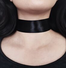 38mm Thick Black SATIN RIBBON Choker Wide NEW CELEBRITY TREND velvet Choker