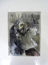 """BERTHOMME ST-ANDRE (1905-1977) """"Tenue pour l'Opéra de Paris"""" Aquarelle,gouache"""