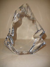"RARE LARGE 8""  BACCARAT CRYSTAL ICEBERG SCULPTURE HEAVY APPRX 6LB SIGNED"