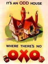 Metal Sign Oxo Odd House A5 8x6 Aluminium