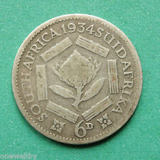 1934 - South Africa - Sixpence - SNo37040