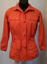 Lauren Ralph Lauren Rain Coat Jacket Windbreaker Dual Zipper Orange Size 1X EUC