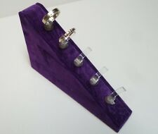 Five Ring Wedge in spring purple Suedette