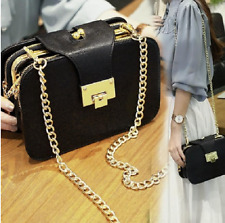 2017 Fashion Women Shoulder Bag Chain Strap Flap Messenger Handbag Metal Buckle