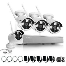 ANNKE Wireless Outdoor Wifi Network 4CH NVR Night Vision Surveillance Camera Kit